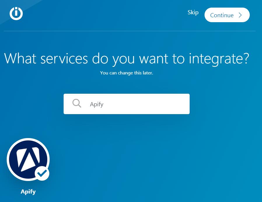 Select Apify service