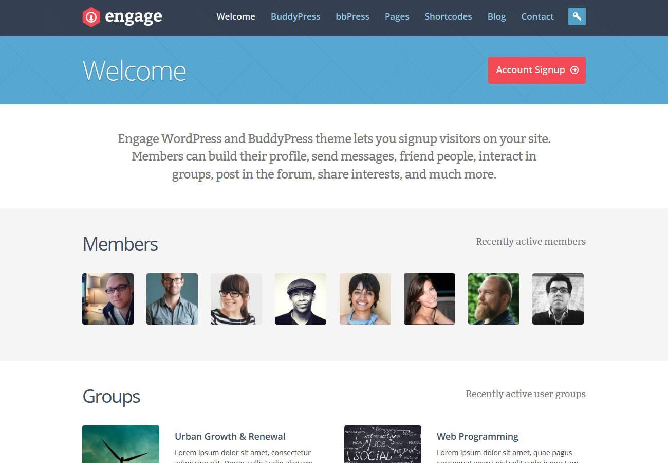 Top 25 Premium BuddyPress Themes | WP Gurus