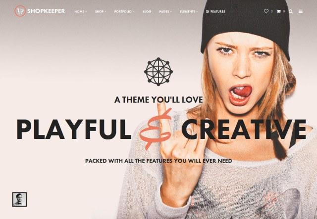 Shopkeeper Store WordPress Theme