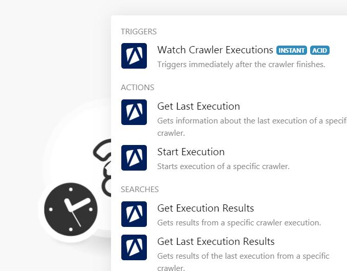 Watch crawler executions